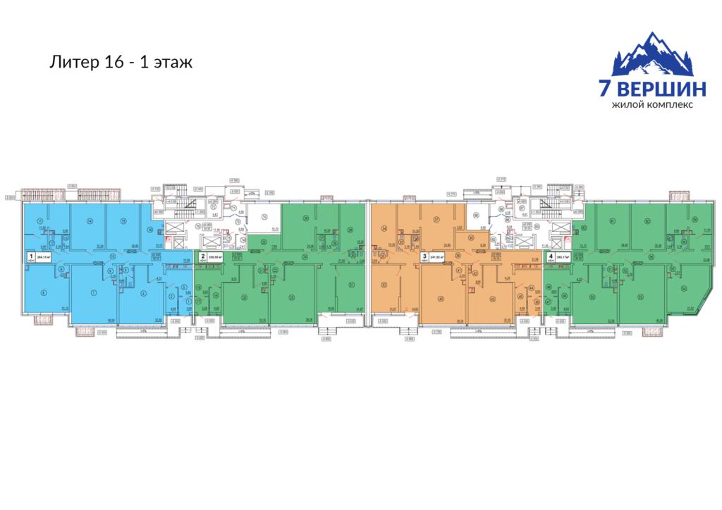 Литер 16 - 1 этаж